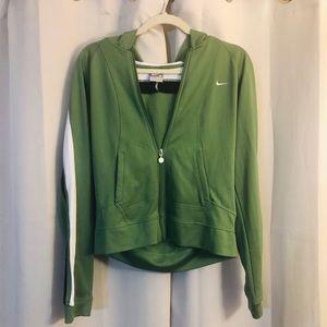 Nike lightweight jacket w/hoodie